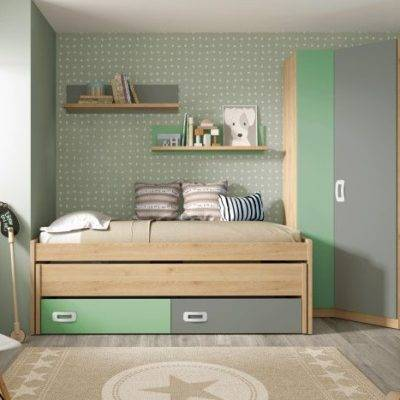 Dormitorio juvenil cama nido oculta