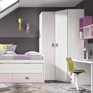 Dormitorio juvenil con armario rincón