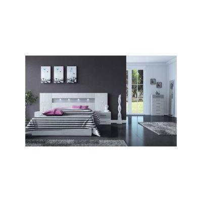Dormitorio Charlotte cabecero rectangular con tira de LED