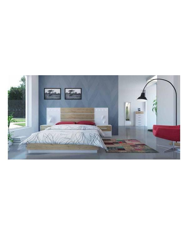 Dormitorio Charlotte cabecero con dos tiras de LED