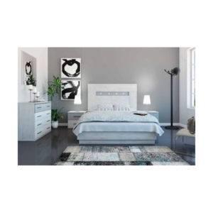 Dormitorio Charlotte cabecero cuadrado con tiras de LED