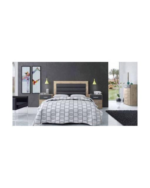 Dormitorio Charlotte cabecero polipiel