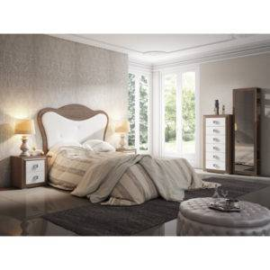Dormitorio Adele cabecero redondeado con botones