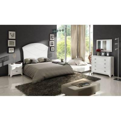 Dormitorio Adele cabecero con pespuntes
