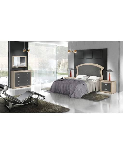 Dormitorio Adele cabecero en pico con botones