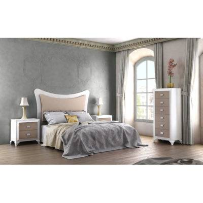 Dormitorio Adele cabecero liso enmarcado