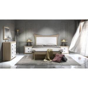 Dormitorio Adele cabecero en pico con rombos