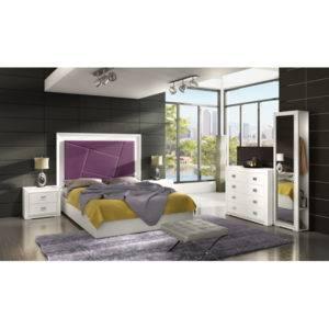 Dormitorio Adele cabecero con cuadrado enmarcado
