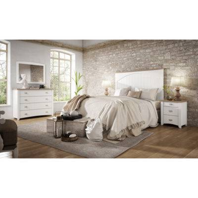 Dormitorio Alison cabecero curvo con detalle