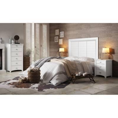 Dormitorio Alison cabecero liso con detalles