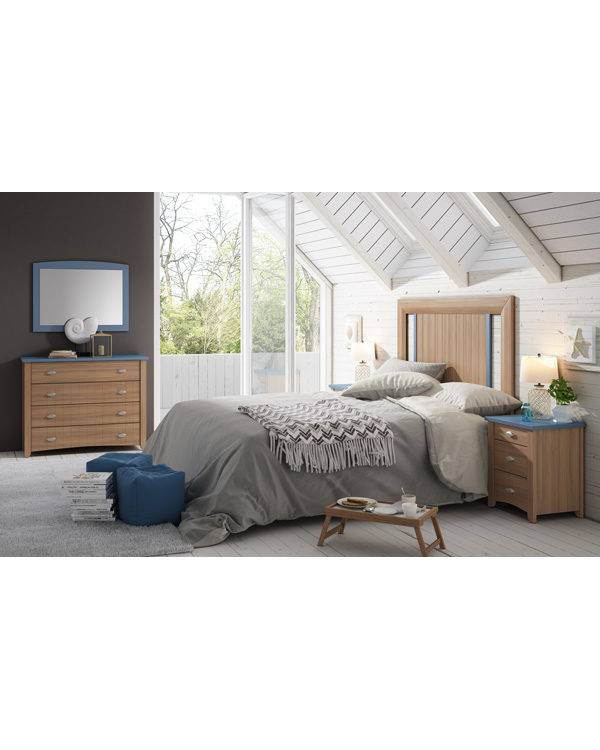 Dormitorio Alison cabecero recto detalles huecos