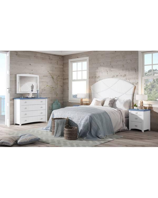 Dormitorio Alison cabecero con pespuntes